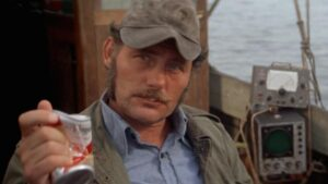 Robert Shaw in Jaws.