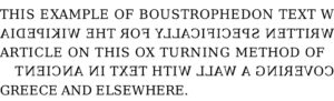 Boustrophedon example.