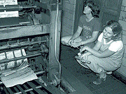 Michigan Daily students at the printer