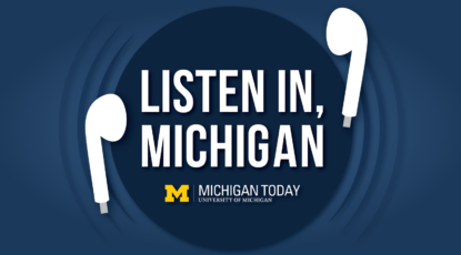 Listen in, MIchigan banner