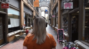 Woman in Nickels Arcade