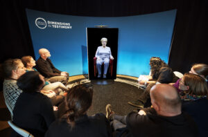 Users interact with Shoah video