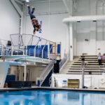 Diver falls