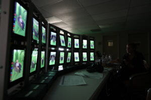 Multiple screens in editing suite