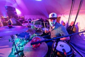 Fritz McGirr, BMus '10, is the drummer for the band Scythian. (Image courtesy of McGirr.)