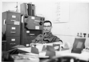 Bruce Stern at his desk