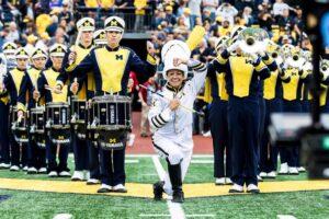 2018-19 University of Michigan Marching Band Drum Major Kelly Bertoni.