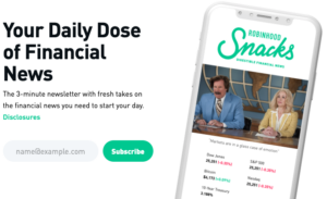 RobinHood Snacks on the phone