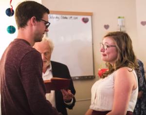 Bride and Groom at Michigan Medicine