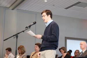 Henry Schnaidt speaks at the U-M