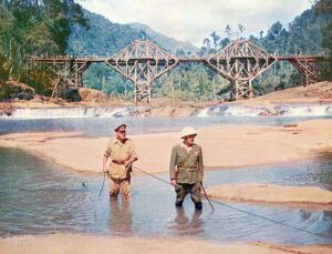A still from Bridge on the River Kwai