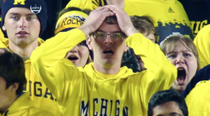 Fans freak out at U-M/MSU game.