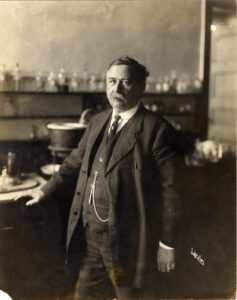 Vaughan in lab