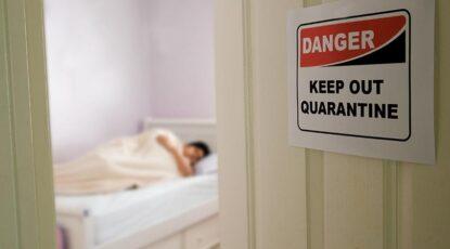 person in quarantine