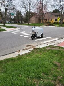 delivery robot in Ann Arbor