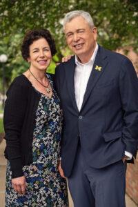 Regent Ron Weiser with Elizabeth Weiser Caswell.