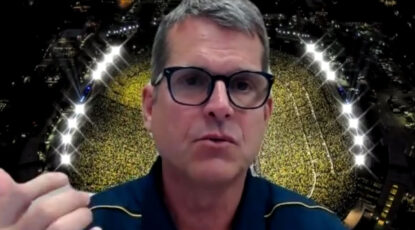 Jim Harbaugh on Zoom, July 2020