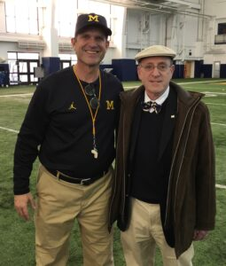 Kolins with Harbaugh