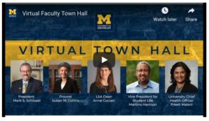 Faculty virtual town hall