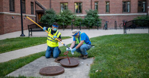 Researchers test sewer water