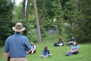 Students learn in the Arb
