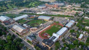 Aerial of the athletic campus