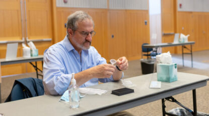 Mark Schlissel takes saliva-based COVID-19 test