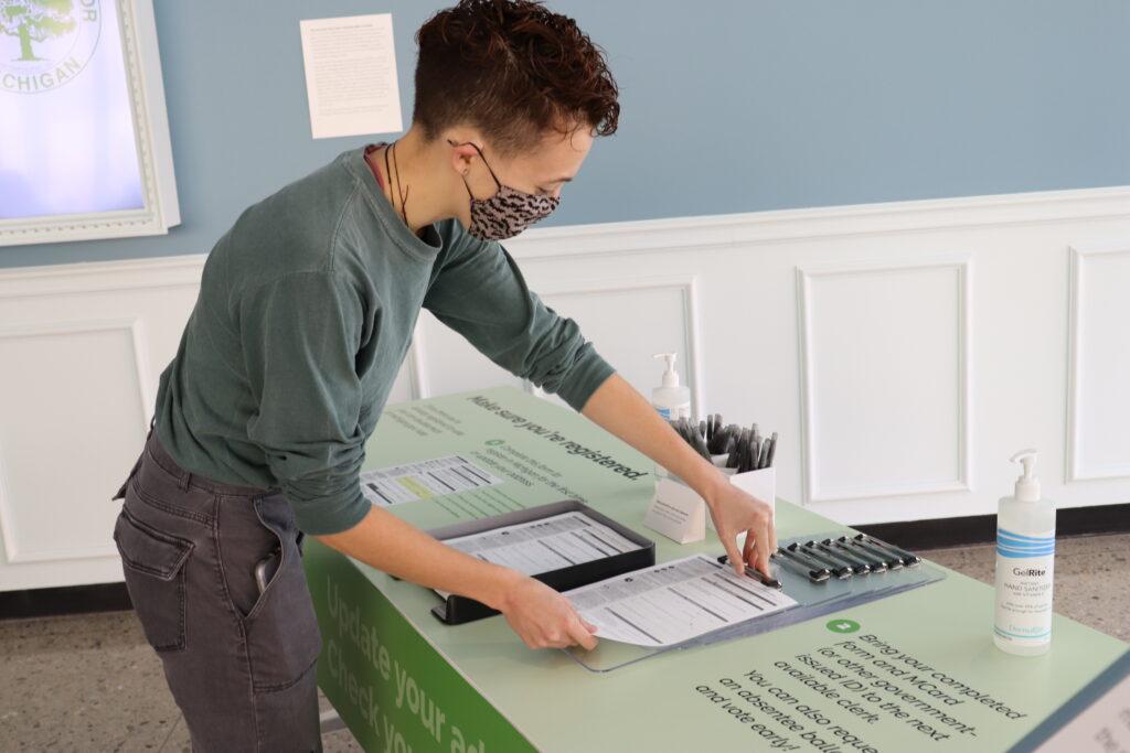 Volunteer at UMMA voting space