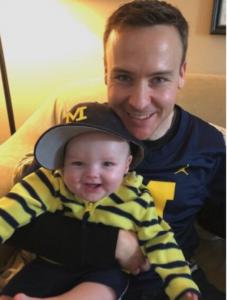 Collin McGlashen and his son, Yale.