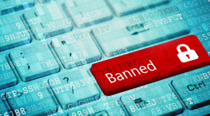 Keyboard with banned key