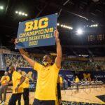 Howard celebrates BIG 10 Championship, 2021