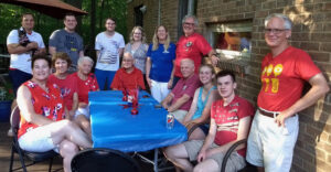 Members of the Balogh family are pictured at a family gathering. (Photo courtesy of the Balogh family.)