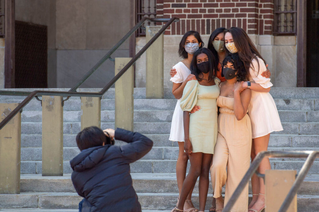 Women grads celebrate