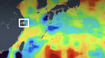 Satellites reveal fluctuation in the Great Pacific Garbage Patch and releases from the Yangtze River.
