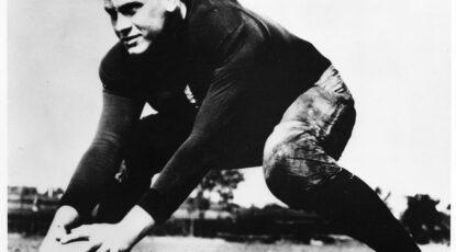 Gerald Ford on U-M football team, 1934