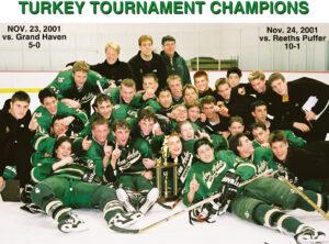 The Huron River Rats win the 2001 Turkey Tournament