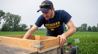 Archaeologist digs at Clovis site in Michigan