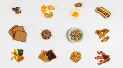Miscellaneous foods on a table