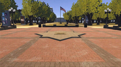 A digital representation of the Block M on the Diag