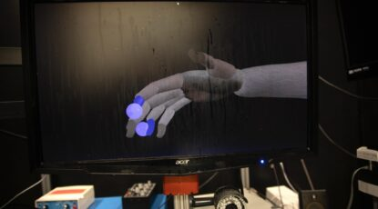 Computer representation of a prosthetic hand.