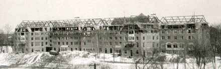 Mosher-Jordan Hall under construction circa 1929. (All archival photos on this page courtesy U-M Bentley Historical Library.)