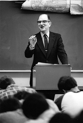 History professor Sidney Fine, who died in March 2009, loved life, learning and his students. (Photo courtesy U-M Bentley Historical Library.)