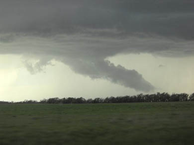 Storm clouds as seen by U-M students on a team of scientists studying tornadoes and other severe weather.