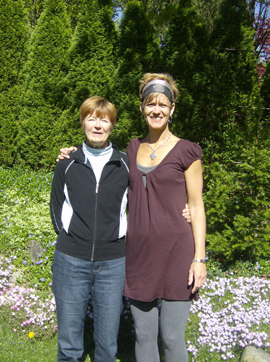 Lisa Kelly and her mother-in-law Sharon.