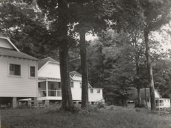 The Alumni Association purchased the camp in 1962, later giving it the name Michigania. (Photo courtesy Alumni Association of U-M.)