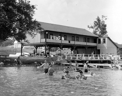Located on Walloon Lake in Michigan's northern lower peninsula, Camp Michigania has been a haven for alumni families for generations. (Photo courtesy Alumni Association of U-M.)