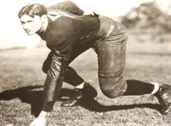 Fritz Crisler in his playing days. As U-M's football coach his two-platoon system, with players dedicated to offense and defense, would revolutionize the game. But Crisler remained ambivalent about the world he helped create. (Photo courtesy U-M Bentley Historical Society.)