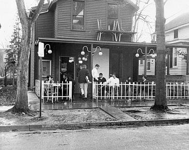 Casa Dominick's, the legendary student hangout, back in its early days. (Image courtesy of U-M Bentley Historical Library.)