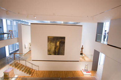 The Museum of Art's 'vertical gallery' is one of the jewels in this architectural crown. (Photo: Scott Galvin, U-M Photo Services.)