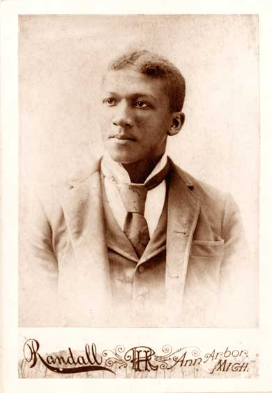 Jewett in 1895. After a transfer to Northwestern, he earned his medical degree, but after just a brief stint practicing medicine, he returned to Ann Arbor and opened a cleaning and pressing shop. (Image courtesy U-M Bentley Historical Library.)